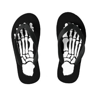 Spooky Skeleton Feet Kid's Thongs