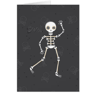 Spooky Skeleton Halloween Greeting Card
