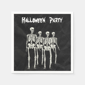 Spooky Skeletons Halloween Party Serviettes Disposable Napkins