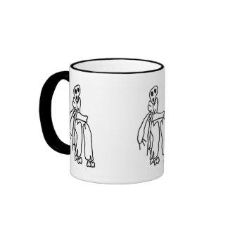 Spooky Skeletons Ringer Mug
