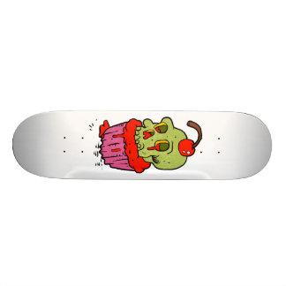 spooky skull cupcake cartoon 20.6 cm skateboard deck