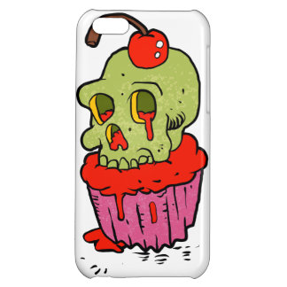 spooky skull cupcake cartoon cover for iPhone 5C