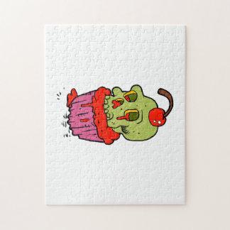 spooky skull cupcake cartoon puzzle