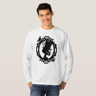 Spooky Skull In Frame Men's Long Sleeve T T-Shirt