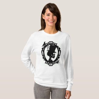 Spooky Skull In Frame Women's Long Sleeve T T-Shirt