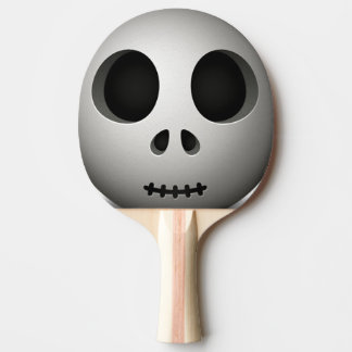 Spooky Skull Ping Pong Paddle