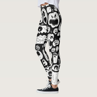 spooky spice pumpkin womens leggings