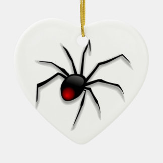 Spooky Spider and Web Ceramic Ornament