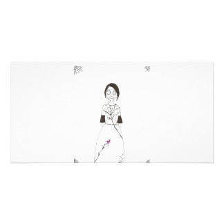 Spooky Spider Girl Personalised Photo Card
