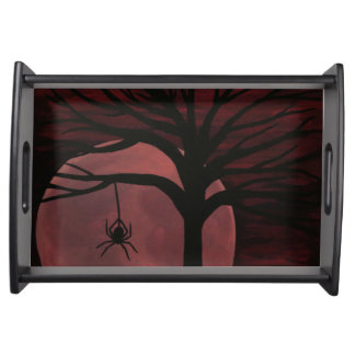 Spooky Spider Serving Tray