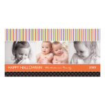 SPOOKY STRIPES  | HALLOWEEN PHOTO CARD