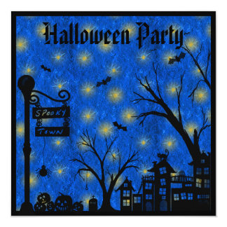 Spooky Town Halloween Party Invites