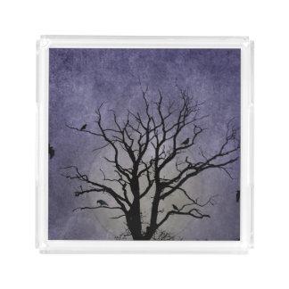 Spooky Tree Halloween Prints Acrylic Tray