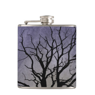 Spooky Tree Halloween Prints Hip Flask