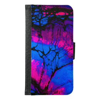 Spooky Trees in Evening Acrylic Art Samsung Galaxy S6 Wallet Case