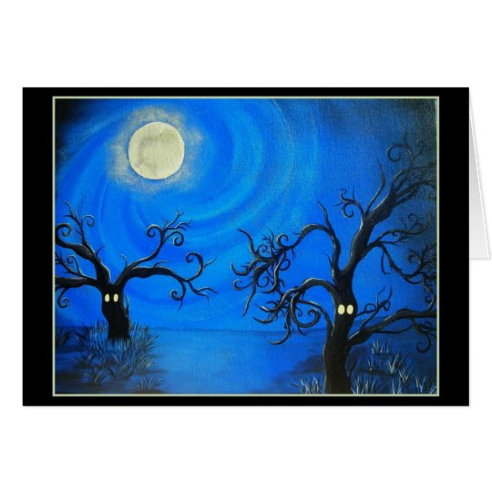 Spooky Trees Note Card