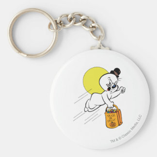 Spooky Trick or Treat 2 Basic Round Button Key Ring