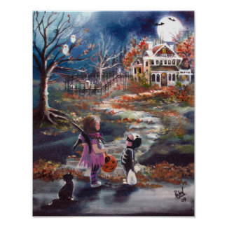 Spooky Trick or Treat Poster
