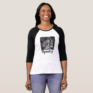 Spooky tshirt, ghost girl in woods, Halloween Shirts