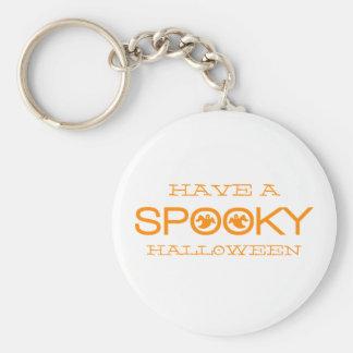Spooky Typography Halloween Keychain