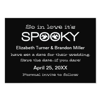 Spooky Typography Halloween Save the Date 13 Cm X 18 Cm Invitation Card