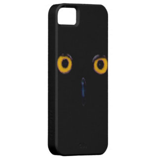 Spooky Wise Old Owl Eyes Face Halloween Barely There iPhone 5 Case