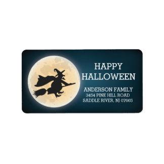 Spooky Witch Happy Halloween Return Address Address Label