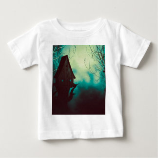 Spooky Witch House in Mist 2 Baby T-Shirt