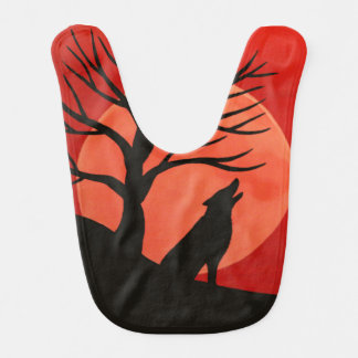 Spooky Wolf Halloween Baby Bib