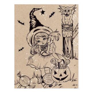 Spookylicious Candy Halloween Postcard