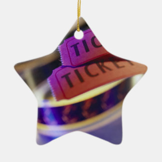 Spool of Tickets Ceramic Ornament