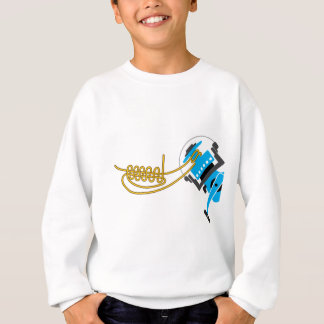 Spool uni knot for spinning reel vector diagram sweatshirt