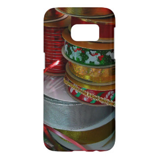 Spools of Christmas Ribbon Holiday Red and Gold