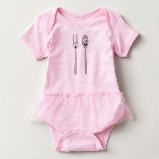 Spoon and Fork Kawaii Zqdn9 Baby Bodysuit
