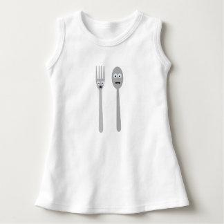 Spoon and Fork Kawaii Zqdn9 Dress