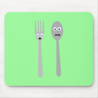 Spoon and Fork Kawaii Zqdn9 Mouse Pad