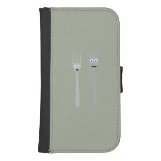 Spoon and Fork Kawaii Zqdn9 Samsung S4 Wallet Case