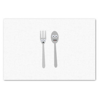 Spoon and Fork Kawaii Zqdn9 Tissue Paper