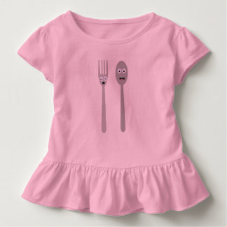 Spoon and Fork Kawaii Zqdn9 Toddler T-Shirt