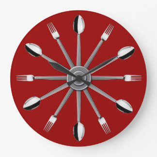 Spoon and Fork Kitchen Wall Clock