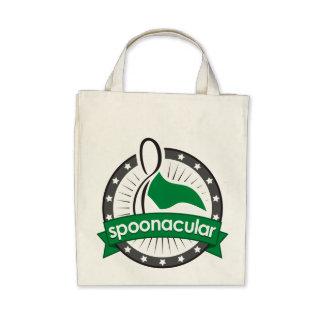 spoonacular organic grocery tote canvas bag