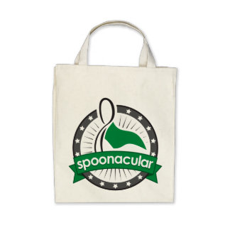 spoonacular organic grocery tote canvas bag