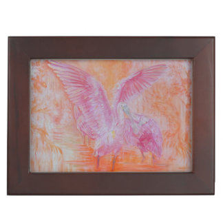 Spoonbills in Sunlight Keepsake Box