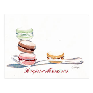 Spoonful of Macarons Postcard
