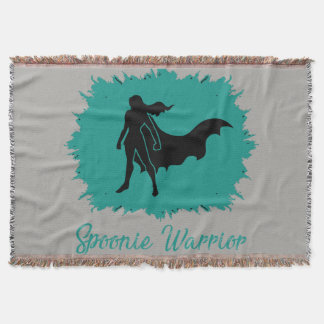 Spoonie Warrior (clear) Throw Blanket