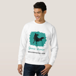 Spoonie Warrior Men's Sweatshirt (clear logo)