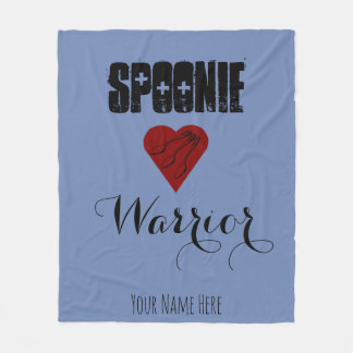 Spoonie Warrior with Heart - Customisable Fleece Blanket