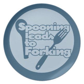 Spooning leads to forking plates