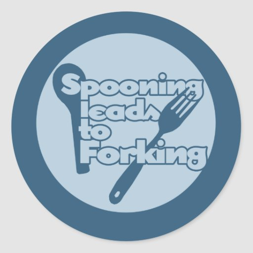 Spooning leads to forking sticker