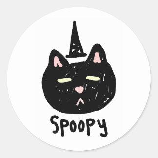 Spoopy cat sticker